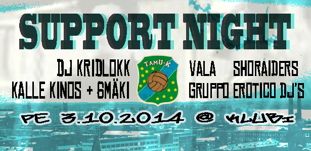 TamU-K Support Night Klubilla 3.10.2014