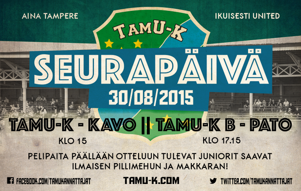 TamU-K seurapäivä 30.8.2015