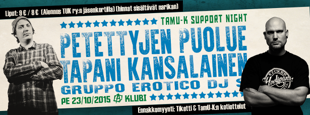 TamU-K Support Night Klubilla pe 23.10.